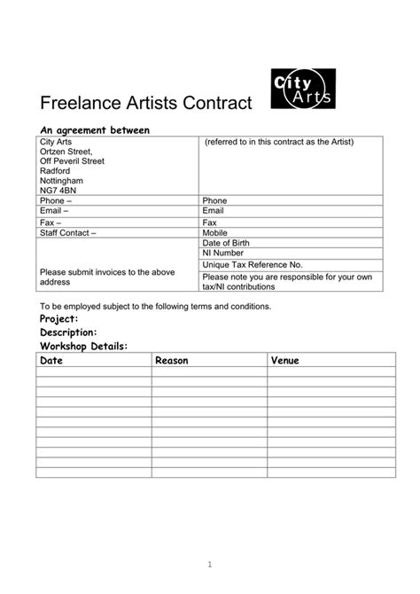 freelance contract template   documents