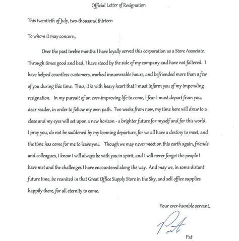 resignation letters   quit  hilarious ways ninjajournalist