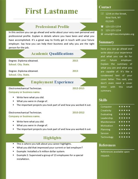 resume ms word format best resume gallery
