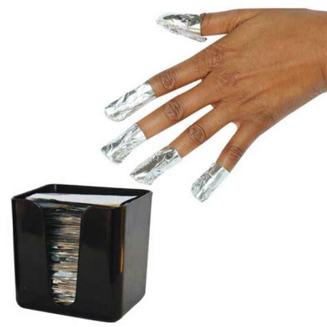 magis foil nail wraps papier aluminium pour enlever le vernis semi permanent