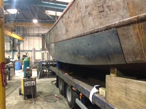 Steel Boat Rust Repair by Metal Fabrication And Ductwork Specialists Fleetwood