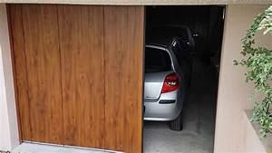 23 corenov porte de garage sectionnelle laterale en With porte de garage laterale