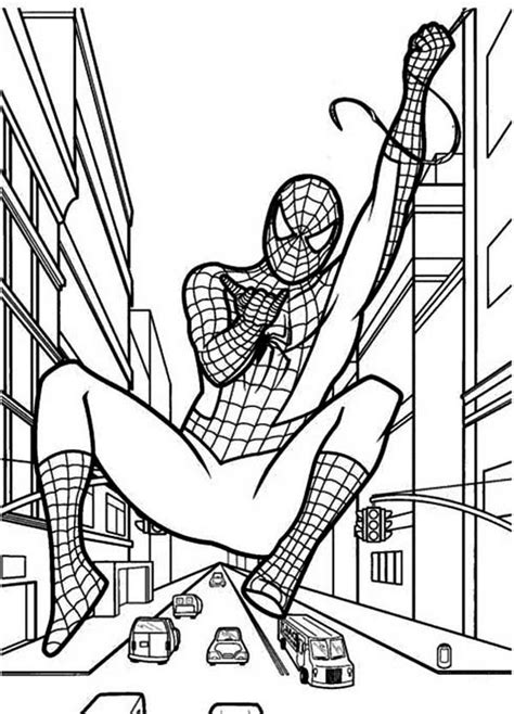 draw spiderman coloring page   draw spiderman