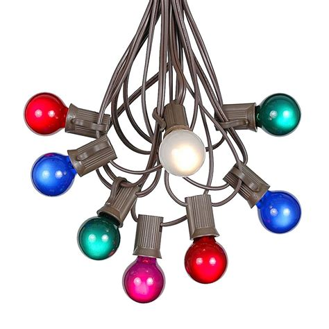 100 multi colored g30 globe outdoor string light set