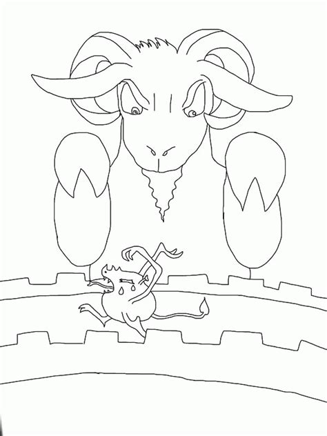 billy goats gruff troll coloring pages coloring home