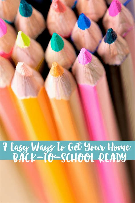 7 easy ways to get your home back to school ready