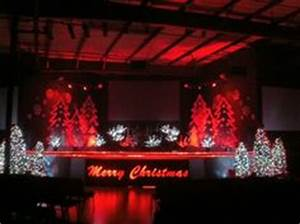 christmas stage decoration