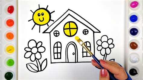 house coloring pages  kids drawing colouring
