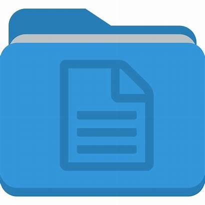 Icon Document Icons Folder Clipart Flat Transparent