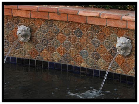 atq lion head fountain  capri deco