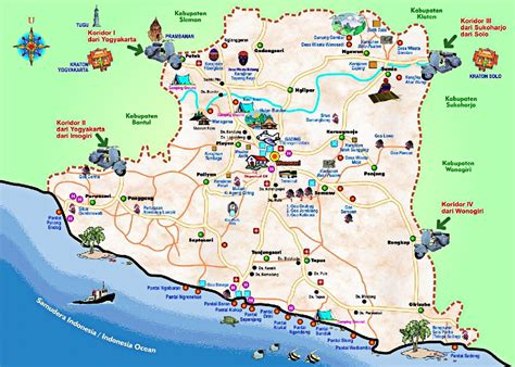 amazing journey yogyakarta tourist maps