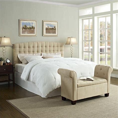 26474 beige tufted bed king tufted panel headboard in beige da4015hk bg