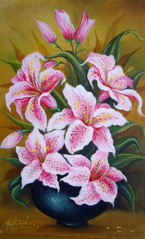 cuadros modernos pinturas y dibujos lindas flores al 211 leo de gabriel nieto