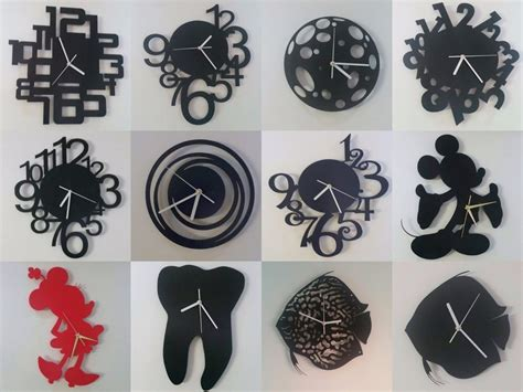 Wall Clock Pack // 13 Pcs Of Unique Dxf Files For Cnc