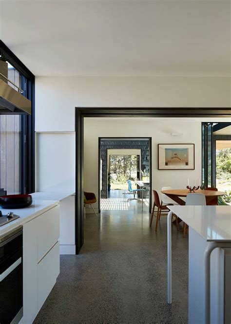 kitchen design interior grey slate creatively covers this australian home 1235