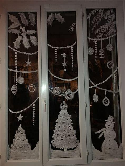 dessiner sur une vitre  noel decoration fenetre noel