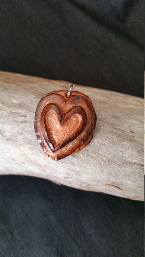 hand carved avocado seed sweat heart pendant etsy carving