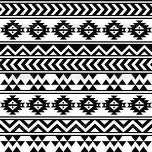 Aztec Tribal Seamless Black and White Pattern by RedKoala ...