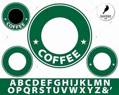 Starbucks Cricut Svg Template Coffee Monogram Cup