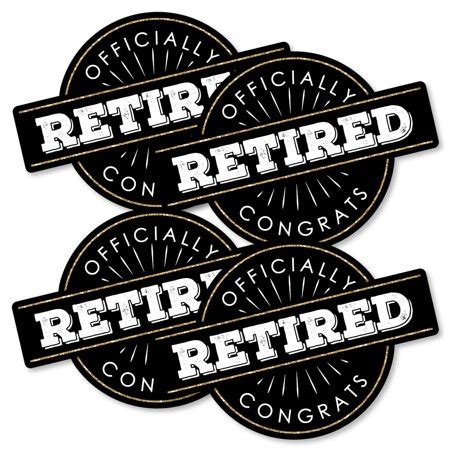 Scroll through our selection of fantastic imagery and designs, and make your upcoming retirement party that much easier to pull off. Happy Retirement - Decorations DIY Retirement Party Essentials - Set of 20 - Walmart.com