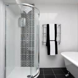 monochrome bathroom ideas shower room with chic monochrome tiles shower room ideas housetohome co uk