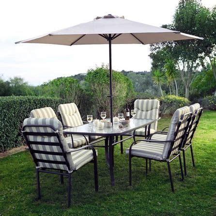 provence  seater garden dining furniture  parasol