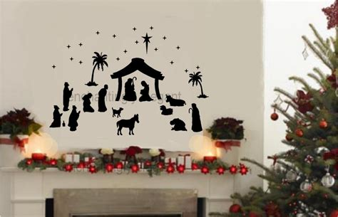 36 piece large nativity set vinyl decal wall stickers