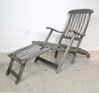 vintage antique teak steamer deck chairs steam ship cruise