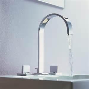designer faucets bathroom dornbracht 39 s sleek mem faucet a flat spout fancy