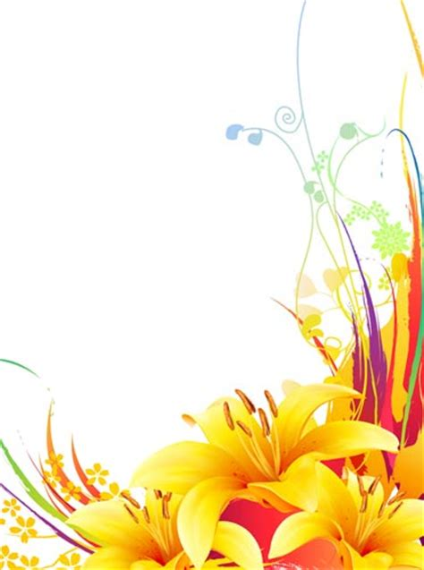 yellow flower design yellow lily vector flower design