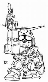 Gundam Sd Rx 78 Coloring Colouring Drawing Lineart Legend Wing Sketch Line Printable Rx78 Drawings Killa Deviantart Getdrawings Version A3 sketch template