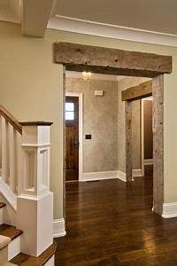 rustic door frames i love how the barn wood looks good With barn wood trim ideas