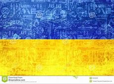 Flag Of Ukraine Abstract Conflict News Background Stock