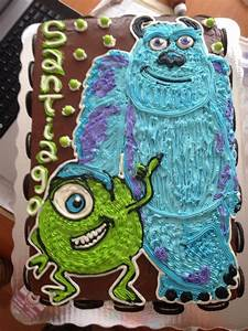 monsters Inc. freehanded cake | Lorelei and Laidan ...