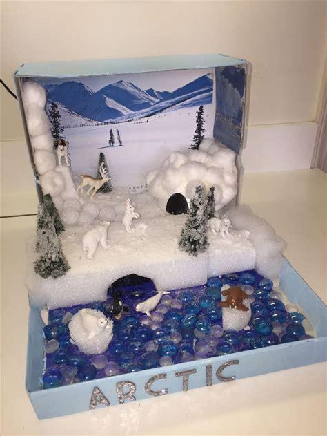arctic habitat diorama arts  crafts arctic habitat