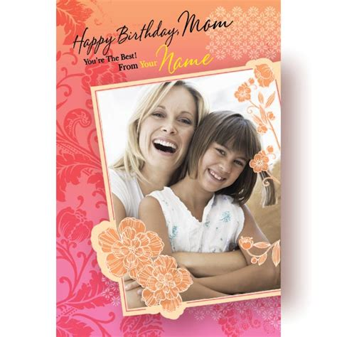 Happy Birthday Mom Personalised Card At Best Prices In