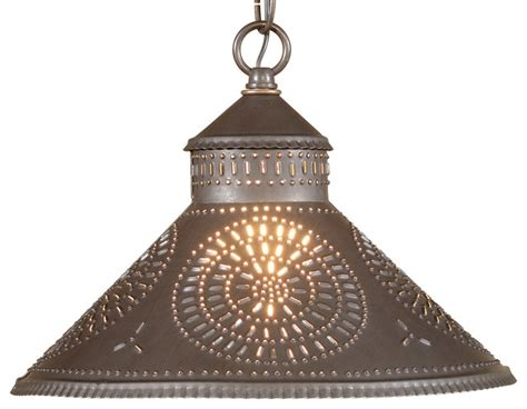 punched tin pendant shade light mediterranean pendant