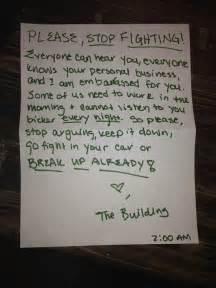 hilarious notes left  neighbors