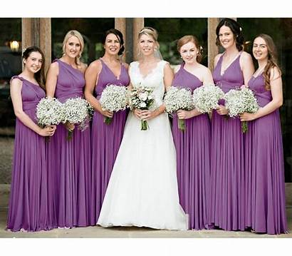 Infinity Bridesmaid Purple Royal Convertible Bridal Dresses