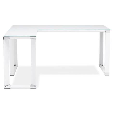 bureau angle verre bureau d 39 angle design quot hovik quot verre blanc