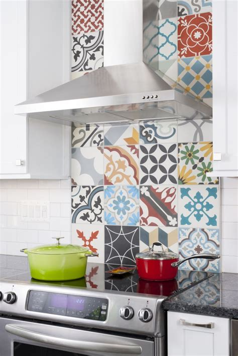 colorful kitchen backsplash tiles colorful tile backsplash tile design ideas 5566