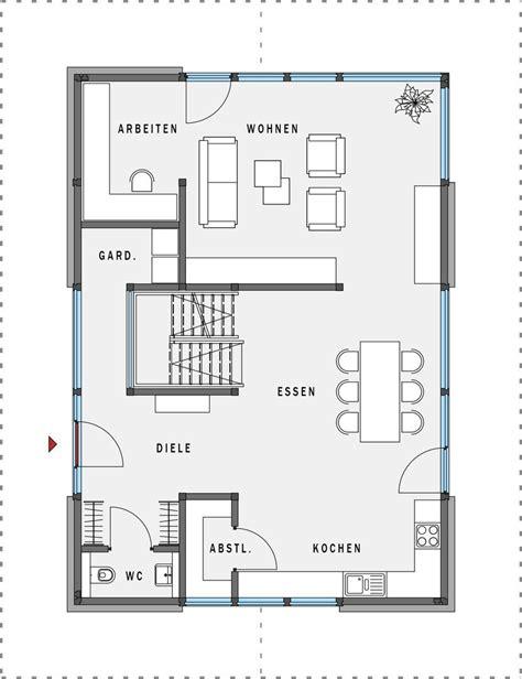 Grundriss Haus 8m Breit by Erdgeschoss Haus