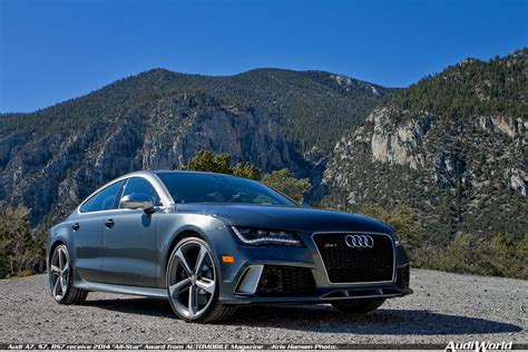 audi a7 s7 rs7 receive 2014 quot all star quot award from automobile magazine audiworld