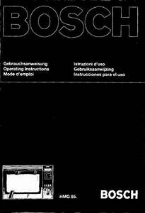Bosch Hmg 85 Microwave Oven Download Manual For Free Now