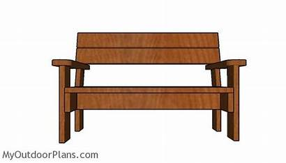 Bench Plans Garden 2x6 Diy Myoutdoorplans Furniture