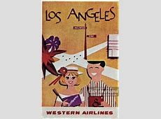 Vintage travel posters All the places you can fly 1961