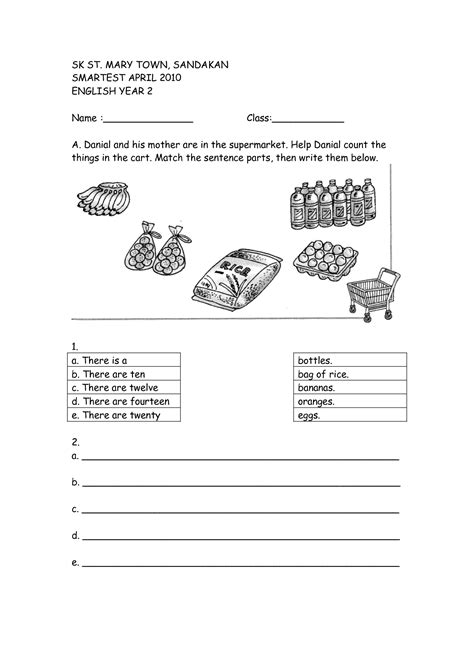 16 best images of 2 year test worksheets 2nd
