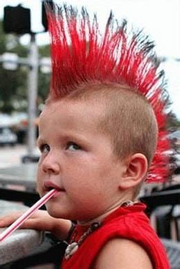 mohawk red punk hairstyles for kids kids hairstyles