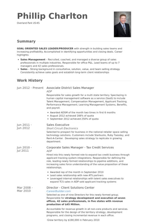 district sales manager resume sle