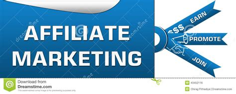 affiliate marketing  stripes banner stock photo